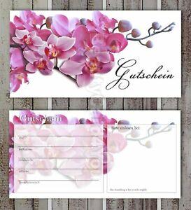 Geschenkgutscheine Fußpflege Spa  Wellness Beauty Kosmetik Orchidee