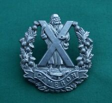 The Cameron Highlanders ~ 100% Genuine, British Army Military Cap Badge....