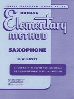 Rubank Elementary Method Saxophone, Paperback by Hovey, N. W., Brand New, Fre...