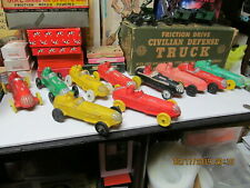 10 AUBURN RUBBER INDIANAPOLIS STYLE OPEN WHEEL RACE CARS LOT OF 10 USA 1950's