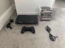 PS3 Super Slim 160GB Black Console With 13 Games GTA 5 COD