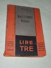 """LIBRO """"RACCONTI RUSSI """"CECOV-STAMPATO NEL 1930-TREVES/TRECCANI/TUMMINELLI"""