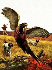 Antique Pheasant Hunting Repro 8X10 Photo Print English Setter Pointer