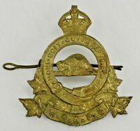 """WW2 Cap Badge """"RCAPC"""" Royal Canadian Army Pay Corps - Brass"""