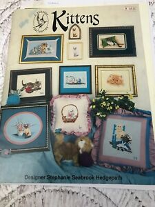 Pegasus Cross Stitch Cats Kittens Pattern Book 169 Stephanie Hedgepath Vintage