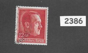 #2386   Used Postage stamp / Adolph Hitler / 1938 Birthday / Third Reich Germany