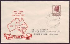 1951 3-1/2d RED KGVI ON SMYTH GENERIC FIRST DAY COVER TYPE ADDRESSED (RU2852)