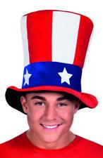 USA AMERICAN STARS & STRIPES PLUSH TALL HAT