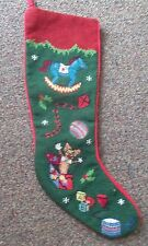 Christmas toys ROCKING HORSE JACK in BOX handmade NEEDLEPOINT mantle STOCKING