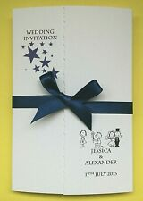 30 Personalised Wedding Invitations Gatefold *FREE P/P*