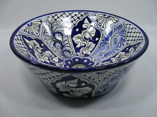 "16"" ROUND TALAVERA SINK ceramic bathroom vessel sink, mexican handmade folk art"