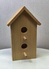 """Birdhouse Unfinished Wood Craft USA Decorative 6 1/4"""""""