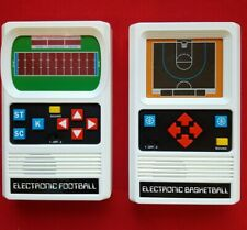 VINTAGE Mattel Electronic Basketball & Football Handheld Games Tested/Working