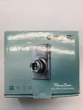 New! Canon PowerShot ELPH 330 HS Digital Camera Black PSELPH330HS(BK)
