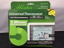 New Hunter 47905 Universal Thermostat 7-Day Programmable Touchscreen Operation