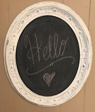 Ornate Frame Chalkboard Shabby Chic White Wall Decor Wedding Menu Memo