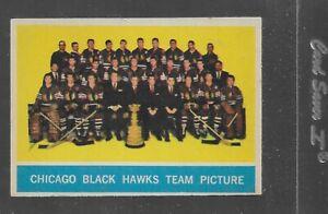 1963-64 TOPPS HOCKEY  # 43 CHICAGO BLACK HAWKS TEAM NICE CARD