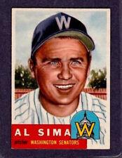 1953 Topps - #241 Al Sima Washington Senators - EX/MT