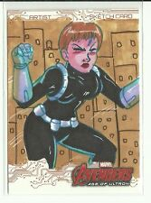 Upper Deck Avengers Age Of Ultron Maria Hill Color Sketch by Mary Bellamy