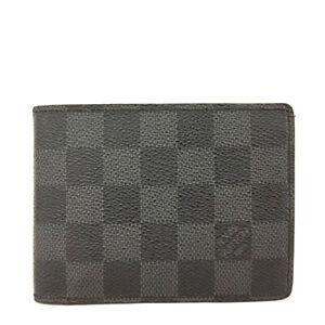 Louis Vuitton Damier Graphite Multiple Bifold Wallet/F0865