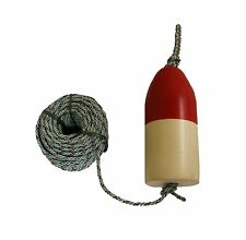 "Kufa Sports 1/4"" Diameter/100' Lead Core Rope & 11"" Red/White Float Combo …"