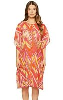 M Missoni 180496 Womens Zigzag Cotton Swimwear Cover-Up Dress Pink Size Medium