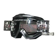 Occhiali da moto con montatura in bianco ProGrip