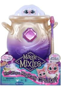 """Magic Mixie Magical Misting Cauldron w/ Interactive 8"""" Pink Plush Toy 🍯 IN HAND"""