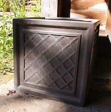 55cm CLEARANCE Faux Lead Clayfibre Windsor Box Garden Planter Pot/Square Cube