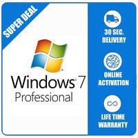 Windows 7 Pro Professional 32/64bit - Multilanguage - Shipping 30 Seconds