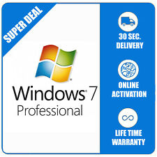 Windows 7 Pro Professional 32/64bit ESD Licence Microsoft - Shipping 30 Seconds