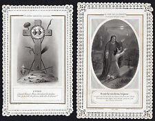 LOT DE 2 IMAGE PIEUSE / CANIVET DENTELLE - LETAILLE - XIX° HOLY CARD SANTINO (2)