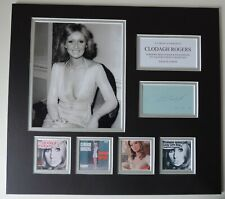 CLODAGH ROGERS - EUROVISION - UNIQUE AUTOGRAPED DISPLAY - SINGLES COLLECTION