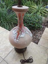 Mid Century Modern Fat Lava Drip Glaze Ceramic Table Lamp