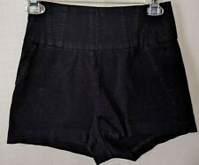 Charlotte Russe Black High-waisted Stretchy Shorts Hot Pants Women's Size Medium