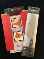 "CraftKitchen 7"" Santoku Knife + 2 Free Flexible Cutting Boards"