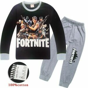 Boys/Kids Fortnite Game Fortnight Battle Royale Pyjamas Night Wear PJ Set UK