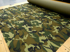 4 Yards 300x600D Woodland Camo PVC Backed Polyester Waterproof FREE SHIPPING!