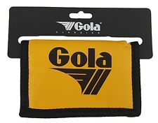 MENS / BOYS GOLA CLASSIC NYLON WALLET WITH ZIP COIN POCKET - YELLOW / BLACK