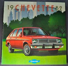 1982 Chevrolet Chevette Catalog Brochure Scooter Diesel Excellent Original 82