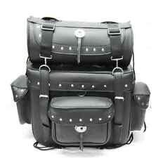 Motorcycle Motorbike Synthetic Leather Saddle Bag  Pannier Luggage OSX AC458 SL