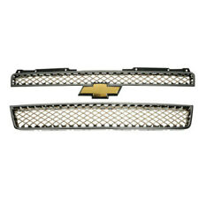 Grille Upper and Lower Chrome with Gold Mesh Chevrolet Tahoe 07 - 14 GM 19258219