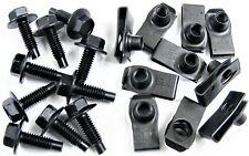 "Ford Body Bolts & U-nut Clips- 5/16-18 x 1"" Long- 1/2"" Hex- 20 pcs (10ea)- #410"