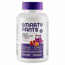 Smarty Pants Adult Complete and Fiber Multi Omega 3s Vitamins D3 Gummy 120 Count