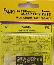 CMK 1/72 P-40M/N Jeu D'intérieur Pour Academy # 7021