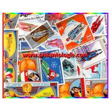 Luge - Bobsleigh timbres thématiques tous différents.