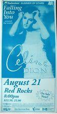 """Celine Dion """"Falling Into You Tour"""" 1996 Denver Concert Poster - Pop Music Diva!"""