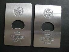 2 CORONA/CORONA LIGHT CREDIT CARD SIZE METAL BOTTLE OPENER NEW FREE SHIPPING