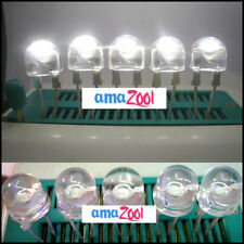 10PCS X 8mm 1W StrawHat HP LED 140° 240.000mcd - White