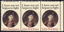 "US 1979 JOHN PAUL JONES ERROR Sc. 1789A STRIP OF 3 W/ ""US BICENTENNIAL 15c"" AT"